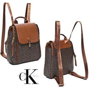 NWT Calvin Klein Hudson CK monogram backpack